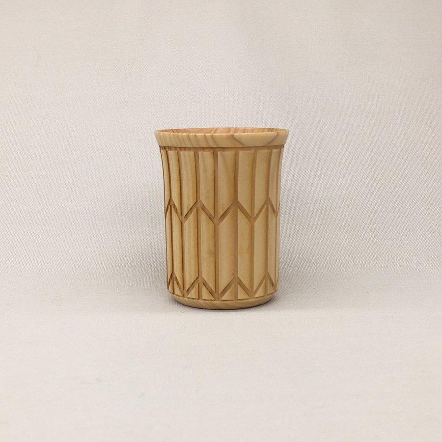[Sansai〜三彩工房/友禅木製品] 木製ショットグラス(4色)   〜オンライン工芸展 2021〜