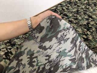 迷彩 グリーン ボアフラットシーツ シングル 140cm×240cm 国産 【メーカー直販価格】