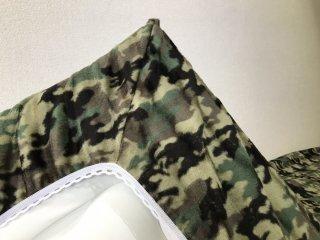 迷彩 全周ゴム付きボアシーツ(布団用) グリーン  105cm×210cm  国産 【メーカー直販価格】