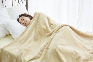 シール織 綿毛布 ベージュ シングル 140cm×200cm  国産 【メーカー直販価格】
