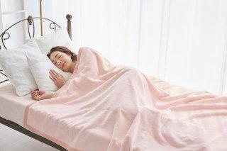 シール織 綿毛布 ピンク シングル 140cm×200cm  国産 【メーカー直販価格】