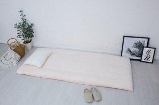 全周ゴム付きボアシーツ(布団用) ピンク  シングル 105cm×210cm  国産 【メーカー直販価格】
