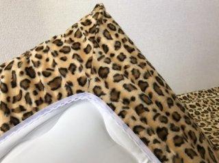 ひょう柄  全周ゴム付きボアシーツ(布団用) ゴールド  105cm×210cm  国産 【メーカー直販価格】