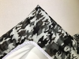 迷彩 全周ゴム付きボアシーツ(布団用) グレー  105cm×210cm  国産 【メーカー直販価格】