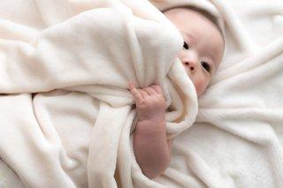 こだわりBABY綿毛布(無染色)(無漂白)(ふち部分も綿) アイボリー  70cm×100� 国産 【メーカー直販価格】