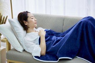 シール織 ハーフサイズ 綿毛布 お昼寝ケット 紺 140cm×100cm  国産 【メーカー直販価格】