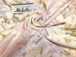 お得な訳あり!! シール織 綿毛布 花柄プリント ピンク  シングル 140�×200� 国産 【メーカー直販価格】