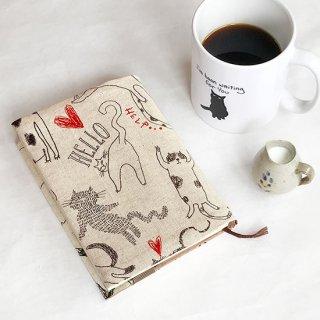 ブックカバー 文庫サイズ cats