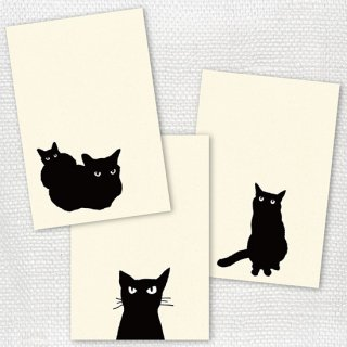 post cards 黒猫3枚セット