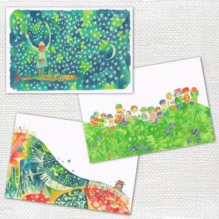 Post cards 3枚セット mariya B