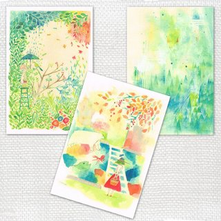 Post cards 3枚セット mariya C