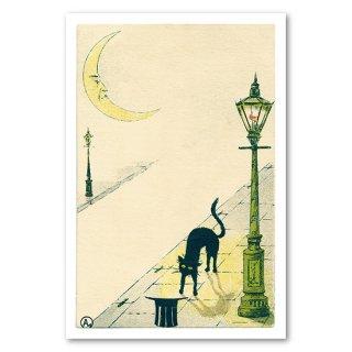 復刻版 post card 街灯と猫