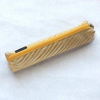 筒型ペンケース ゴールド