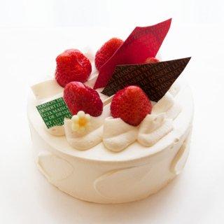 『店頭受取』生クリームと苺と桃のデコレーションケーキ