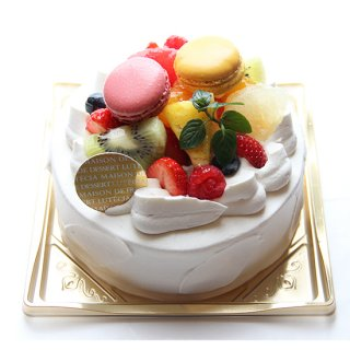 『店頭受取』生クリームとフルーツのデコレーションケーキ