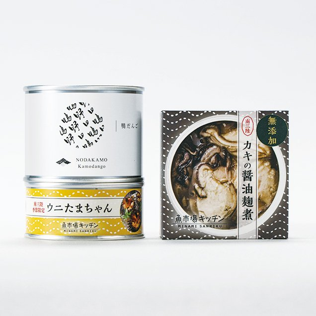 <img class='new_mark_img1' src='https://img.shop-pro.jp/img/new/icons5.gif' style='border:none;display:inline;margin:0px;padding:0px;width:auto;' />和食おつまみ 缶詰セット 各1缶 [ 野田鴨 / 南三陸産 牡蠣 雲丹 ]