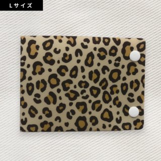 [Dセレクション紹介商品] セーフティマスクホルダーLサイズ アニマル柄シリーズ レオパード(ヒョウ)柄(Leopard)