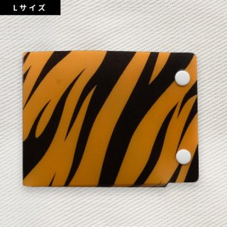 [Dセレクション紹介商品] セーフティマスクホルダーLサイズ アニマル柄シリーズ トラ柄(Tiger)