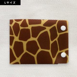 [Dセレクション紹介商品]  セーフティマスクホルダーLサイズ アニマル柄シリーズ キリン柄(Giraffe)