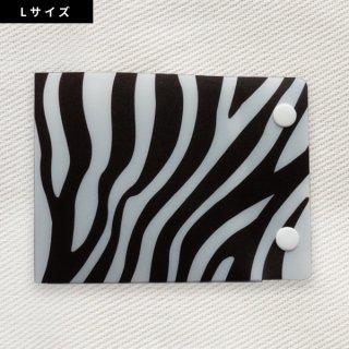 [Dセレクション紹介商品]  セーフティマスクホルダーLサイズ アニマル柄シリーズ ゼブラ柄(Zebra)