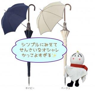 <img class='new_mark_img1' src='https://img.shop-pro.jp/img/new/icons12.gif' style='border:none;display:inline;margin:0px;padding:0px;width:auto;' />最安値 晴雨兼用傘 レディース 雨傘 because 長傘 軽量 レオパードパイピング UVカット率80% 傘 おしゃれ かわいい