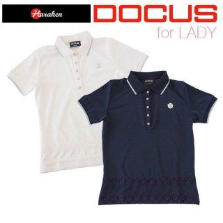 (クリアランス)ドゥーカス DOCUS レディース ゴルフ ウェア レース ポロ シャツ DCL17S001