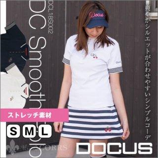 ドゥーカス DOCUS レディースゴルフウェア DCスムースポロシャツ シャツ DCL18S002