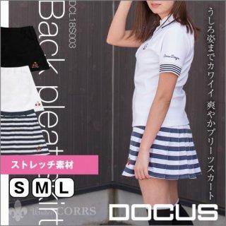 (クリアランス)ドゥーカス バックプリーツ スカート レディース ウィメンズ 大人 かわいい おしゃれ 女子 2019年 春夏 ゴルフウェア DOCUS DCL18S003