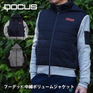 ドゥーカス フーデッド 中綿 ボリューム ジャケット メンズ レディース 大人 クール かっこい おしゃれ 秋冬 防寒 ゴルフ ウェア DOCUS DCM18A009