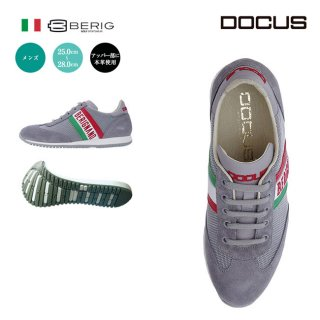ドゥーカス DOCUS BERIGNANO イタリア製 メンズ ゴルフ スパイクレス シューズ グレー (harusport_d19)
