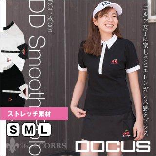 ドゥーカス DOCUS レディースゴルフウェア DDスムースポロシャツ シャツ DCL18S001