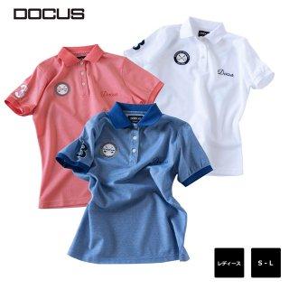 エンブレム ポロ ドゥーカス 2020 春夏 ゴルフ ウェア 大人 シンプル おしゃれ  半袖 シャツ DOCUS Emblem Polo dcl20s006