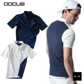 バック ストライプ ポロ 2020 秸财 ゴルフ ウェア メンズ 染碌 ポロシャツ DOCUS Back Stripe Polo dcm20s003