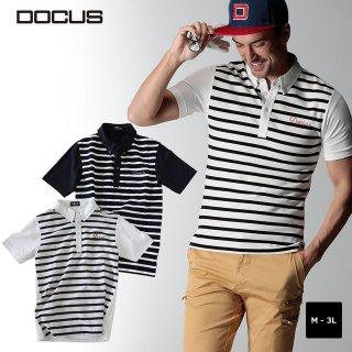 ボーダー ポロシャツ 2020 春夏 ゴルフ ウェア 半袖 ポロ メンズ DOCUS Border Polo dcm20s004