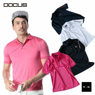 ク〖ルポロ 染碌ポロシャツ 2020 秸财 ゴルフ ウェア メンズ DOCUS Cool Polo dcm20s005