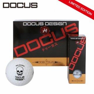 ドゥーカス ゴルフボール リミテッド エディション 1ダース 特別仕様 RELOADED スカルロゴ プリント DOCUS DCB-TOUR 12コ球入り