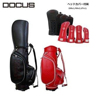 ドゥーカス キャディバッグ ヘッドカバー付き DOCUS Stylish Tour 9 スタイリッシュ ツアー 9 メンズ ゴルフ 9型 DCC753s かっこいい オシャレ クール 大人