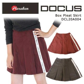 (クリアランス)ボックスプリーツ スカート 秋冬 ゴルフ ウェア レディース DOCUS Box Pleat Skirt DCL20A004