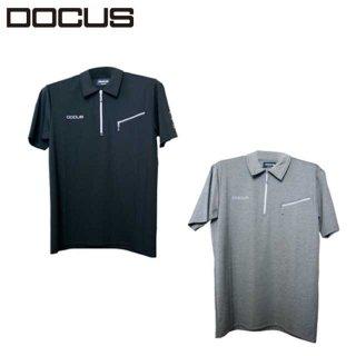 2021 秸财 ゴルフ ウェア 染碌 ポロ メンズ DOCUS RELOADED ZIP UP POLO dcm21s004
