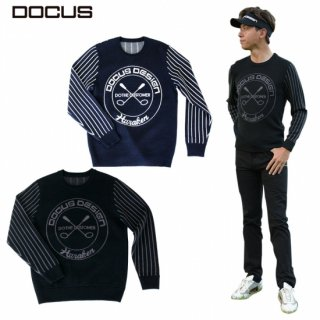 DOCUS メンズ セーター Country Stripes Sweater 秋冬ウェア ブラック ネイビー DCM21A001 dcap21aw