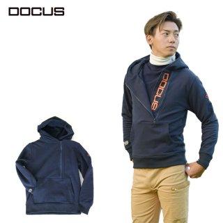 (9月末発売)DOCUS メンズ Zipフーディ Zip Hoodie 秋冬ウェア チャコール オフホワイト ネイビー DCM21A006 dcap21aw