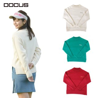 DOCUS レディース セーター ファースト デート セーター First Date Sweater 秋冬ウェア オフホワイト ワイン グリーン DCL21A001 dcap21aw