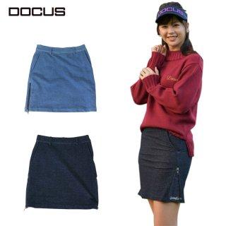 DOCUS レディース デニムニット スカート Denim Knit Skirt 秋冬ウェア サックスネイビーDCL21A005 dcap21aw