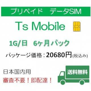 高速データ容量1G/日 6ヶ月プラン DocomoデータSIM