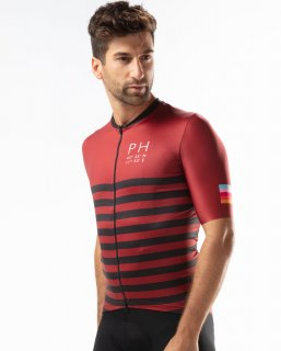 JERSEY ROAD - RED FALUN / BLACK STRIPE<img class='new_mark_img2' src='https://img.shop-pro.jp/img/new/icons1.gif' style='border:none;display:inline;margin:0px;padding:0px;width:auto;' />