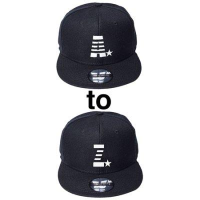 【入荷待ち予約】 snap back cap (A☆〜Z☆) black