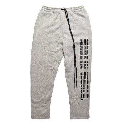 logo snap pants <br />gray