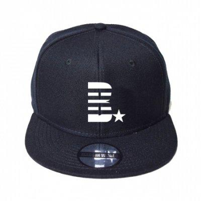 snap back cap (B☆) <br>black