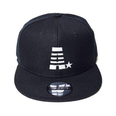 snap back cap (A☆) <br>black