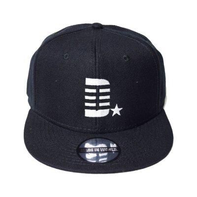 snap back cap (D☆) <br>black